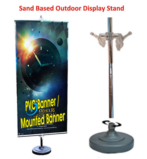 Sand Base Outdoor Banner Stand
